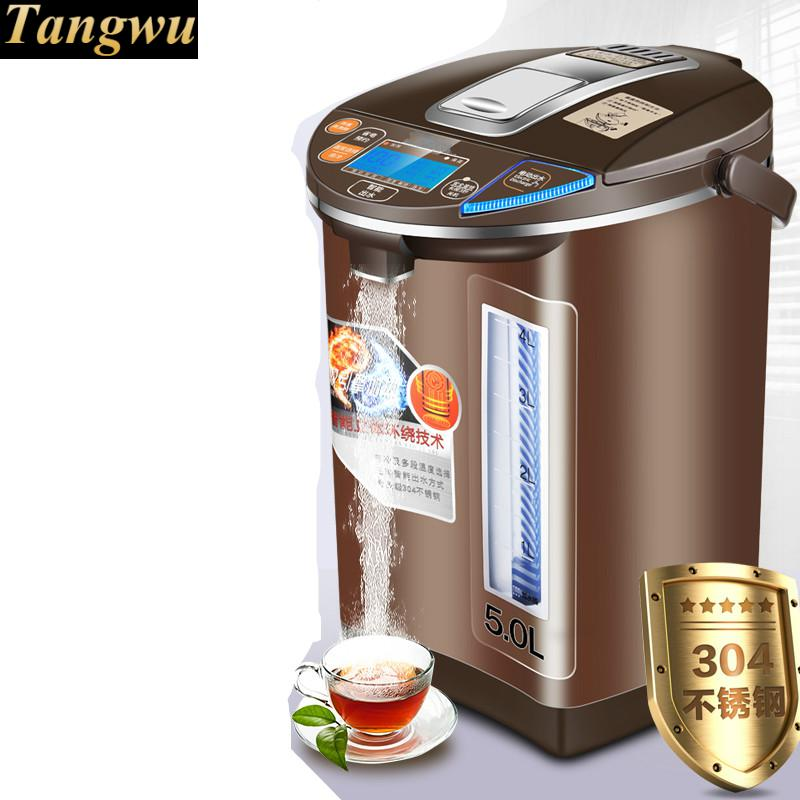 Electric thermos 5l insulated home thermostat 304 stainless steel electric kettle Safety Auto-Off Function