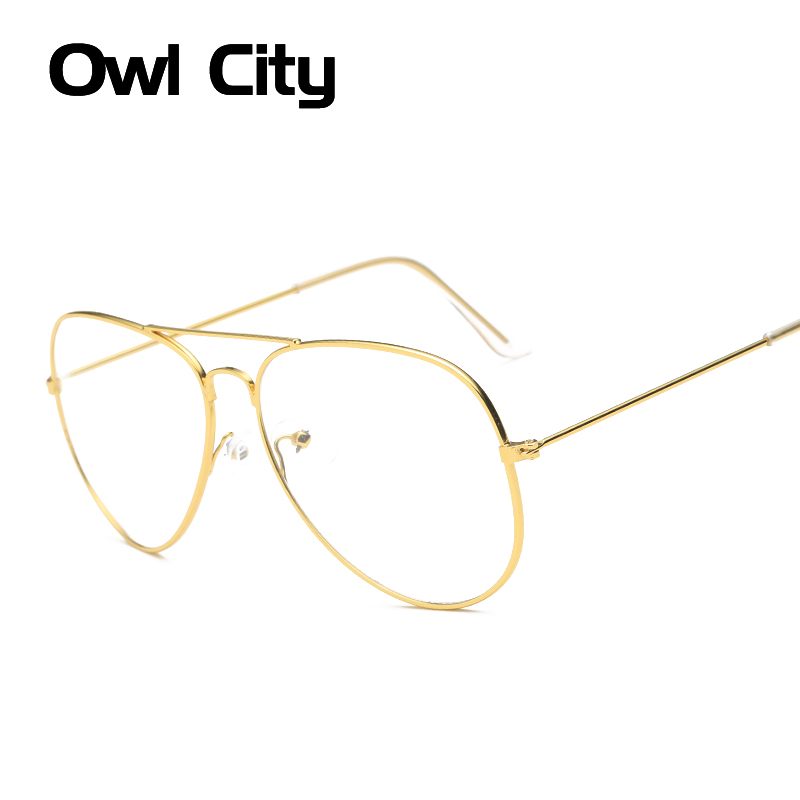 Fashion Women Gold Glasses Frames Men Brand Titanium Eyeglass Frame Eyewear Silver Black Shield Frame With Glasses