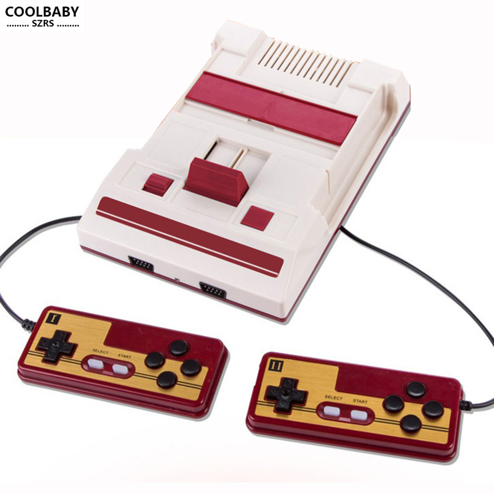 Best gift TV games video game console av output retro game 632 in 1 handheld game players doubl people playing rs35 in Handheld Game Players from Consumer Electronics