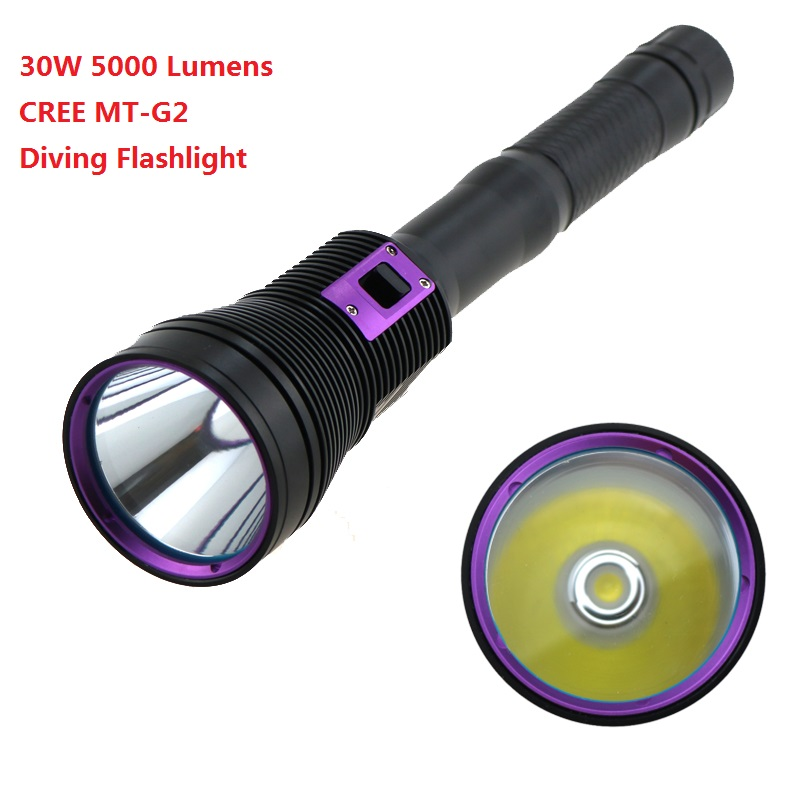 New LED Diving flashlight CREE MTG2 5000 Lumen LED Flashlight linternas Underwater 100M Waterproof Lamp Torch for 26650 Battery