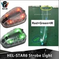 Element Airsoft Helmet Flashlight HEL STAR 6 Gen II Signal Green Red IR Strobe Light Military Helmet Light Survival lamp