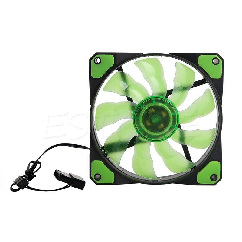 120mm 3-Pin//4-Pin PWM PC Computer Case CPU Cooler Cooling Fan with LED Light