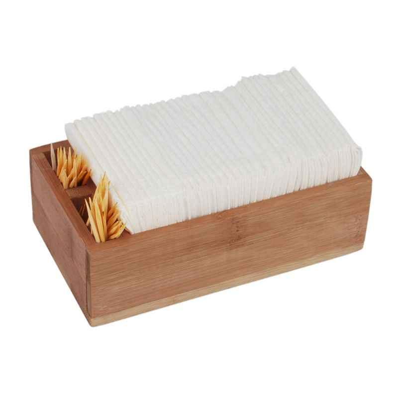 Bamboo Tissue Paper Storage Box Kleenex Napkin Container Home  Holder Decor