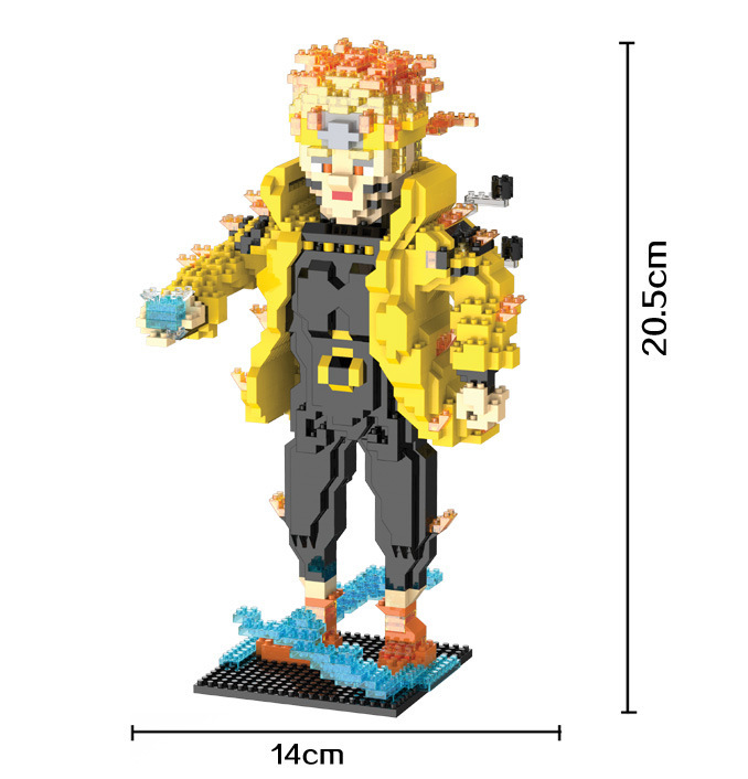 HC 9019 1915Pcs Hokage Ninjia Naruto Uzumaki Cartoon DIY Magic Blocks Diamond Building Block Toys Compatible with скуби ду лего