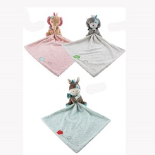 купить Cartoon Animal Elephant Dog Donkey Soft Plush Baby Comfort Blanket Toy Baby Bedtime Appeased Doll Cute Newborn Infant Jouet по цене 534.73 рублей