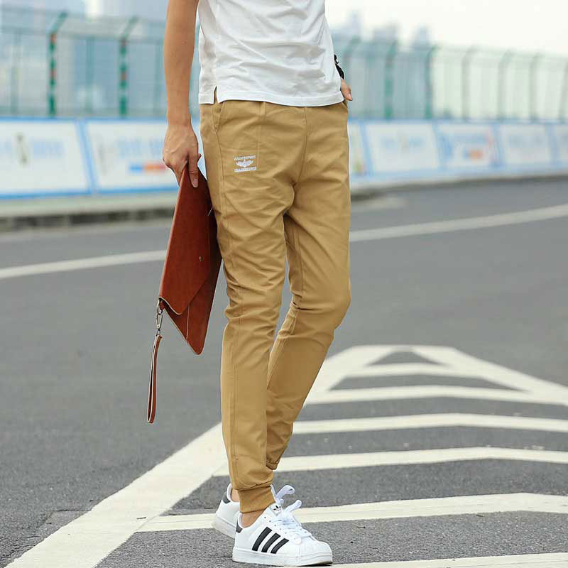 Khaki Joggers New Fashion Casual Slim Fit Men Jogger Pants Cotton Harem Pants Men Chinos Cargo ...