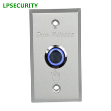 LPSECURITY Door button with LED backlight Metal Exit switch button door release For electric Lock Access Control system
