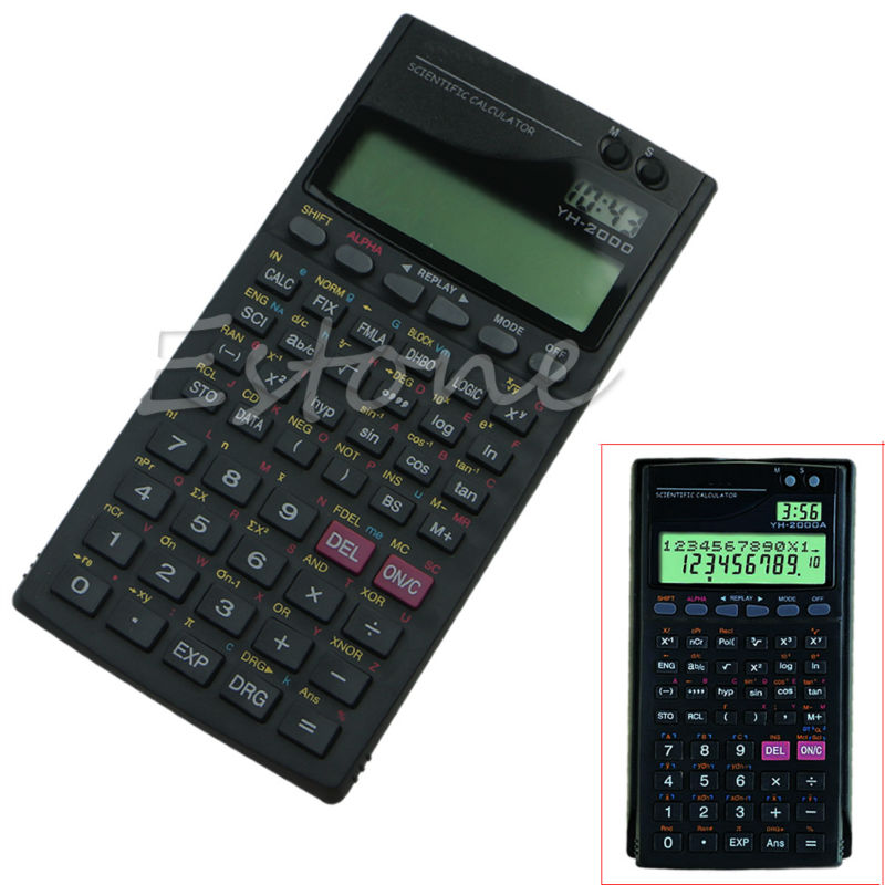 1 pc Noir Couleur 2.5 ''LCD Affichage Écran Portable De Poche 2000A Scientifique Fonction Calculatrice de Haute Qualité