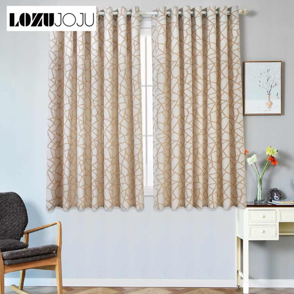 LOZUJOJU Plaid Jacquard Curtains for Bedroom Short Curtains ...