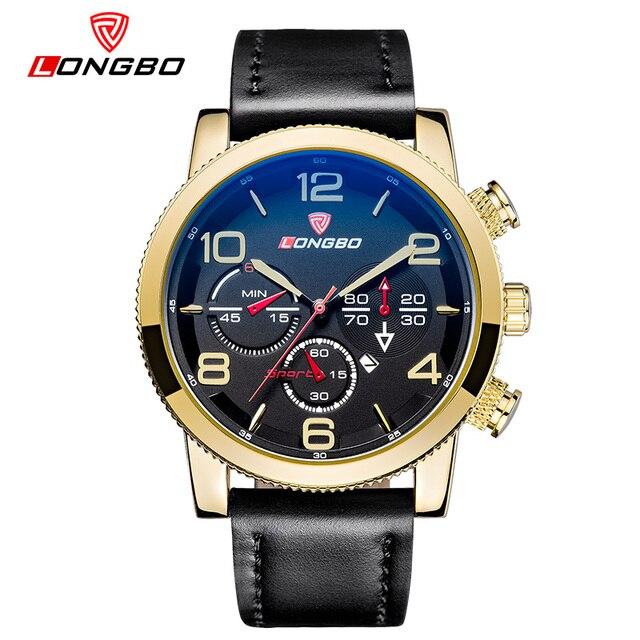 Longbo fashion pria gerakan quartz sport jam tangan big dial tanggal  tampilan digital reloj mewah laki d0a641a39c