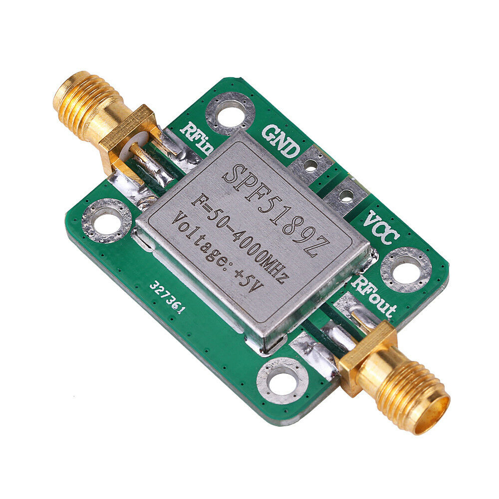 SPF5189 Low Noise Signal Receiver RF Amplifier Module Practical With Shielding Shell LNA  Wideband 50-4000MHz Broadband