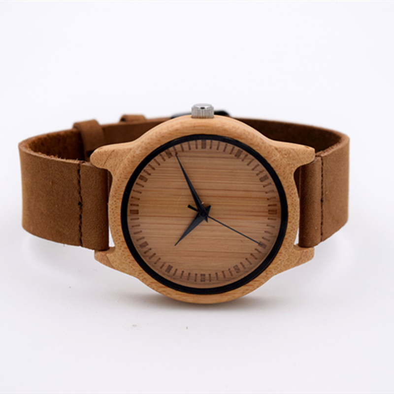 Hot Selling Japanese MIYOTA Movement Wristwatch Genuine Leather Bamboo Wooden font b Watches b font For