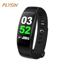 PLYSIN F64 Fitness Tracker Watch Smart Bracelet with Heart Rate Monitor Wristband for Android ios Smartphone Men Women