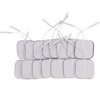 100Pcs 5*5cm Reusable Self Adhesive Tens Electrode Pads For Digital Tens Physiotherapy Massager Nerve Muscle Stimulator 2mm Plug