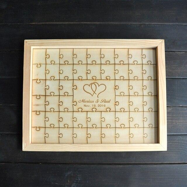 Personalized Wedding Puzzle Piece Guestbook,Alternative Wedding ...