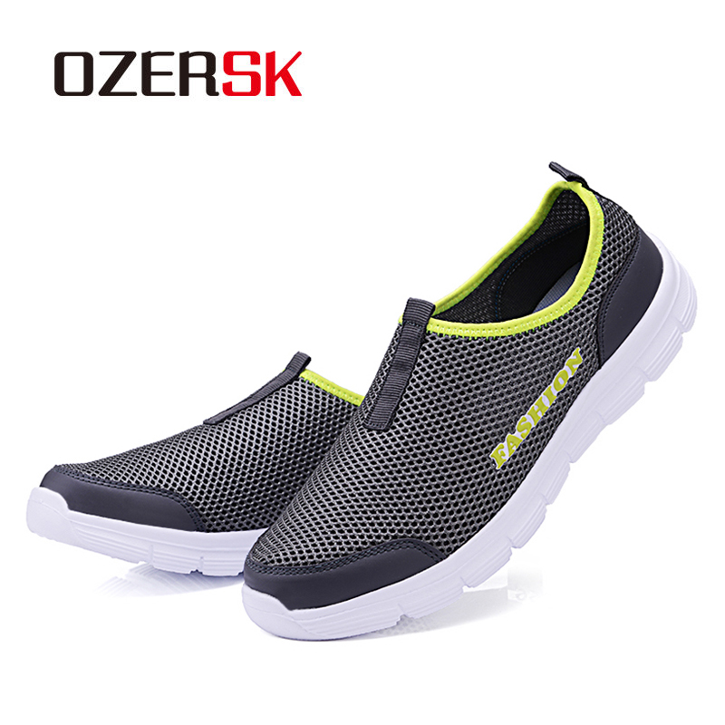 OZERSK Brand Breathable Men Running Shoes Men's Jogging Mesh Summer Mesh Sneaker Casual Slip-on Sandals Shoes Free Shipping 5