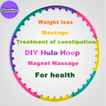 Lose Weight Sport Magnetic Massage Hula Hoop Hula Fitness Body Building PVC Material Blow molding magnets slimming hula hoops