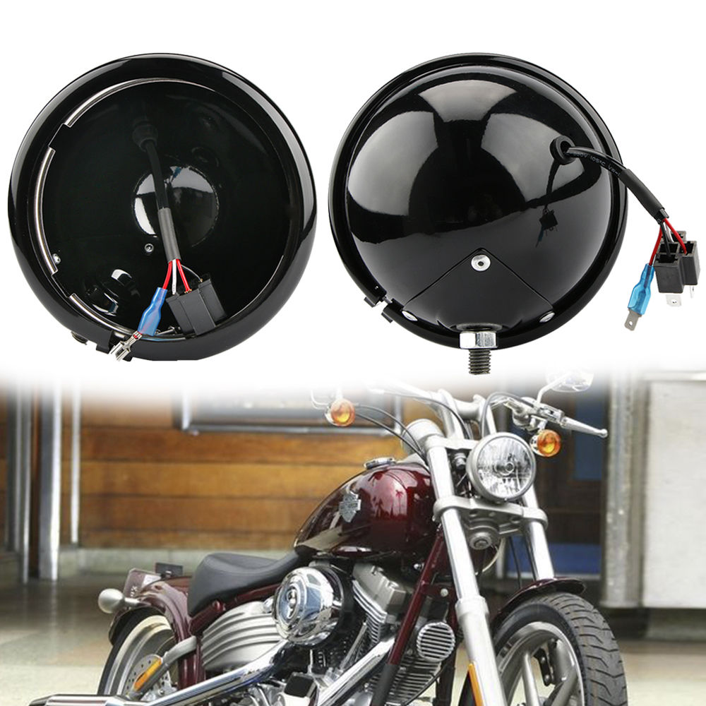 Harley Accessories 5.75 Black Daymaker Headlight DRL Housing Cover Fit Harley Sportster XL883 1200