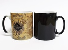 Drop shipping!1Pcs Light Magic Marauders Map Magic Hot Cold Heat Temperature Sensitive Color-Changing Coffee Tea Milk Mug Cup