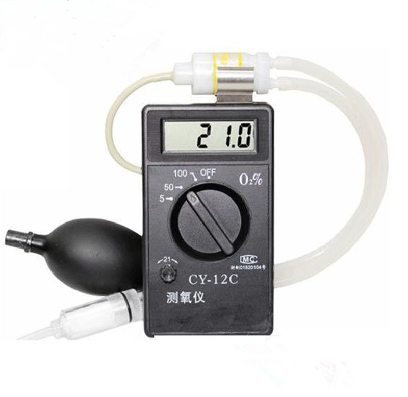 Professional Portable O2 Oxygen Concentration Content Tester Meter High Accuracy Oxygen Detector Monintor CY 12C Gas