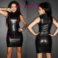 16a99bb4a4519 Aliexpress.com : Buy Top Toughness Women One Outfit Black Shiny PVC ...
