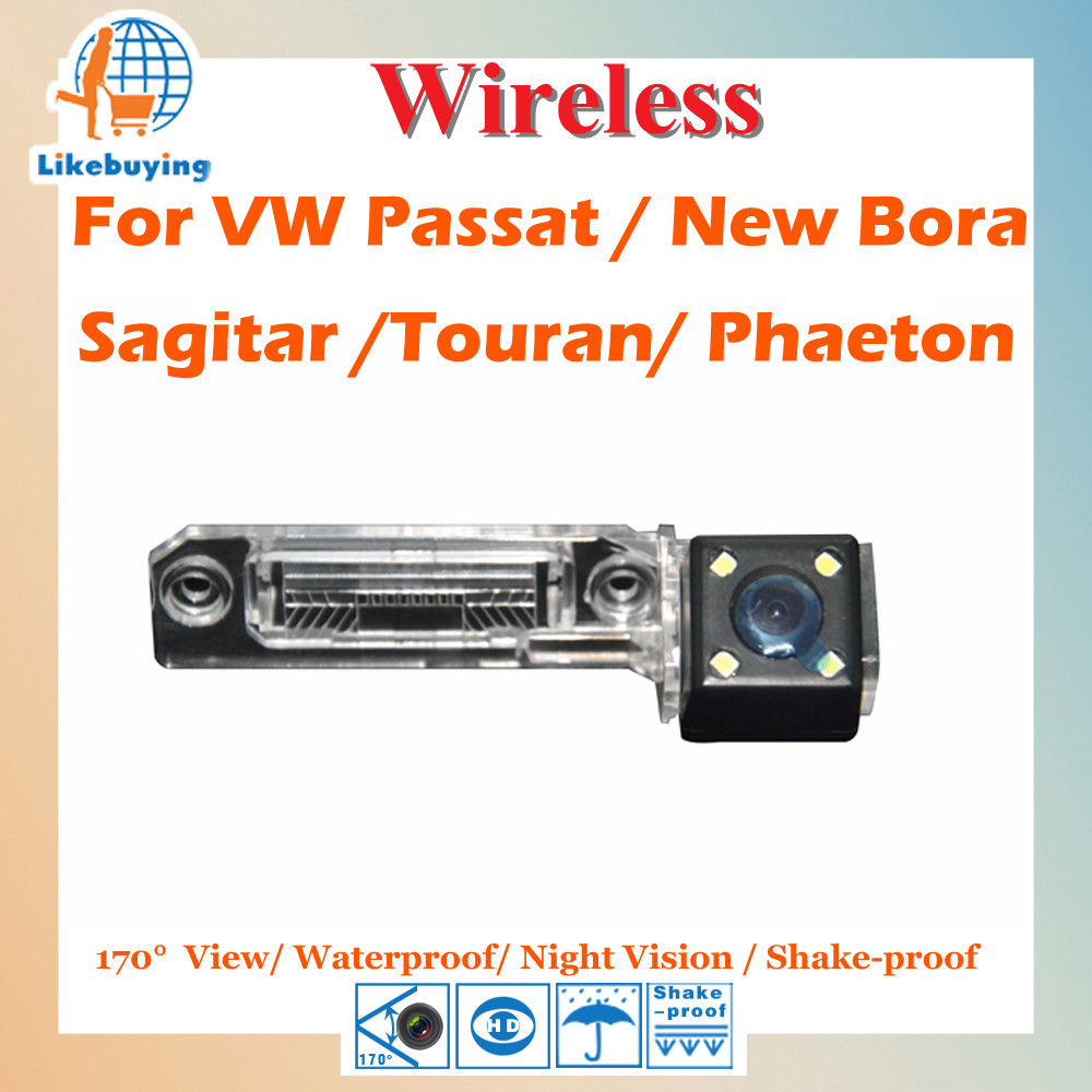 Wireless 1/4 Color CCD Rear View Camera VW Passat New Bora Sagitar Touran Phaeton Night Vision / 170 Degree - Like Buying. Co., LTD store