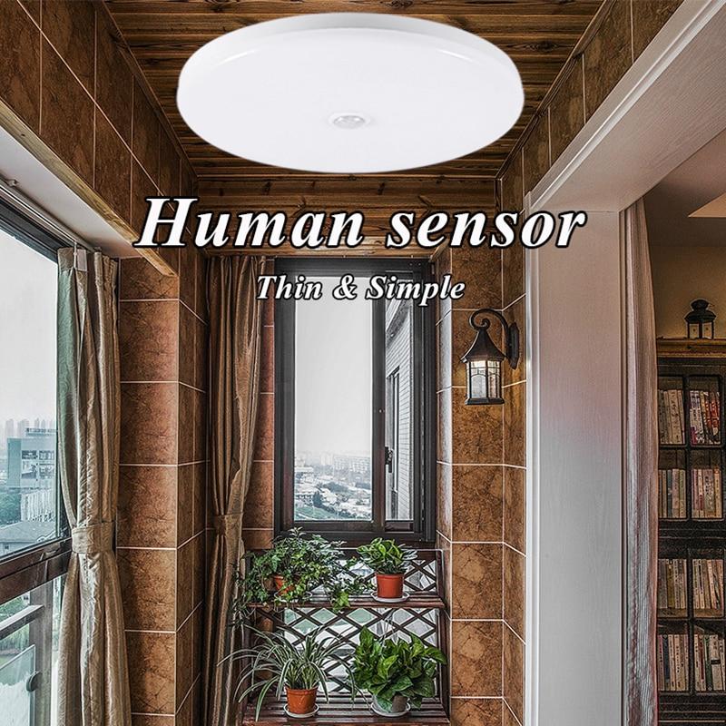 HTB116BSaoLrK1Rjy1zbq6AenFXab Surface Mounted LED Ceiling Lamps PIR Motion Sensor Night Lighting 12/18W Modern Ceiling Lights For Entrance Balcony Corridor