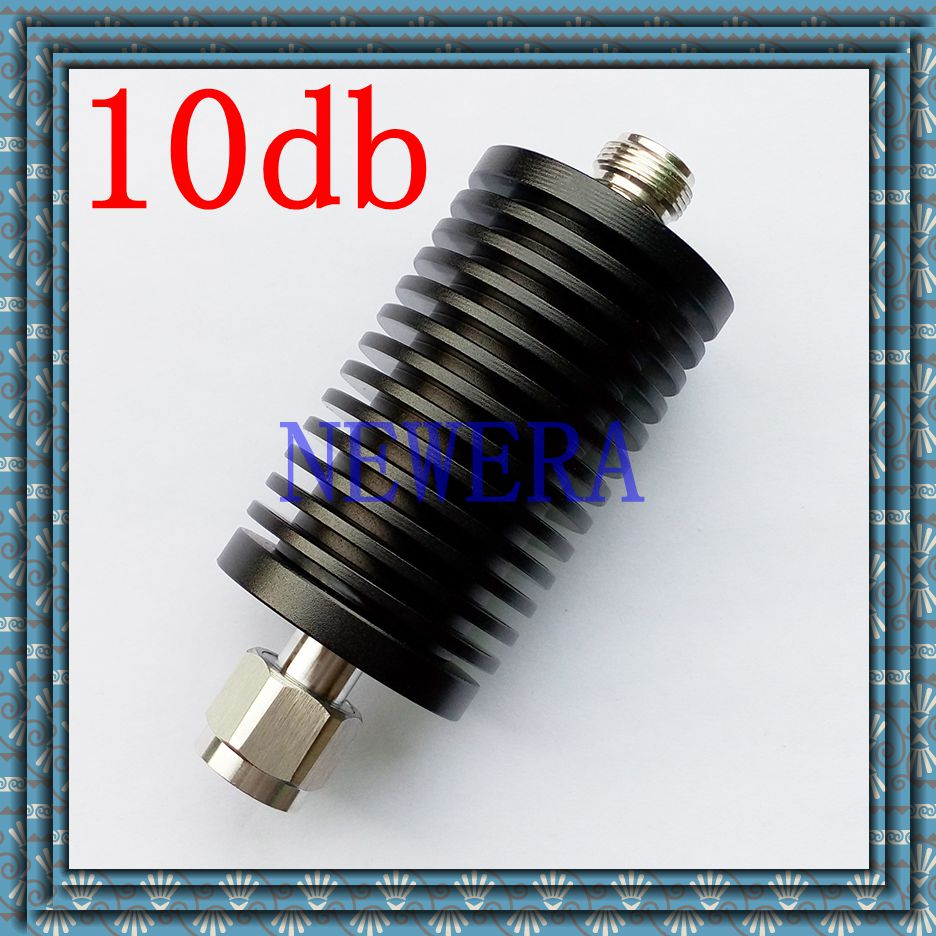 50W N-type male and female RF coaxial fixed attenuator DC-3GHz 10db ,free shopping free shipping 10w rf attenuator coaxial dc 3ghz n type 6db
