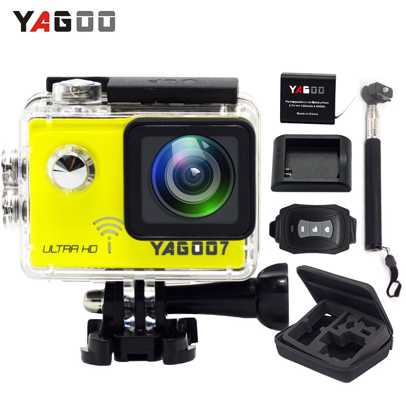 Yagoo7 Action Camera 4K waterproof remote WiFi 4k 24fps helmet Sport Dv 30M Diving head video bike sport mini Cam camera