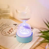 LED Mini Timer Hourglass Sleeping Gift Novelty Lights Multifunctional Colorful Holiday Night Lamps Bedroom Desk Decorative
