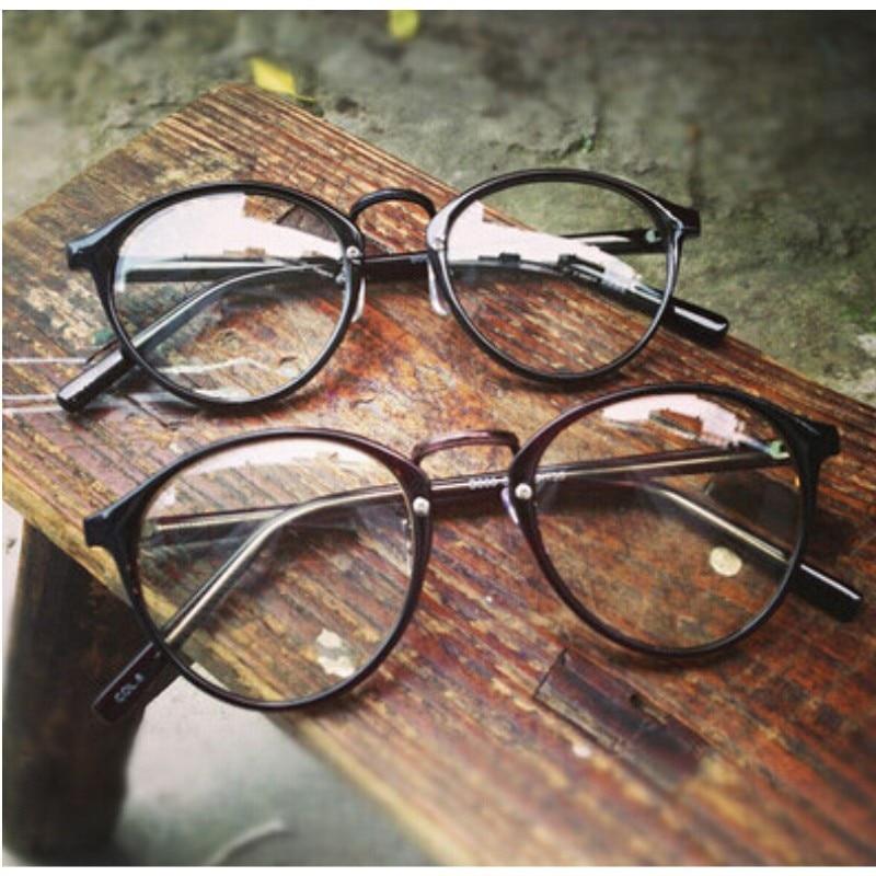 6a7b82dd0b Fashion Lovely Unisex Clear Lens Nerd Geek Glasses Men Women eyeglasses  Wholesale vintage round glasses frame oculos fashion
