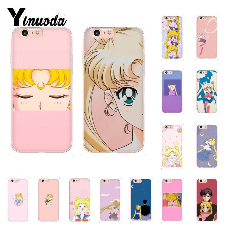 Yinuoda Pink Japanese Anime <font><b>Kawaii</b></font> Sea Moon Cute <font><b>Phone</b></font> <font><b>Case</b></font> for <font><b>iPhone</b></font> 5 5Sx 6 <font><b>7</b></font> 7plus 8 8Plus X XS MAX XR 11 11pro 11promax image