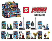 80pcs SY283 Super Heroes Avengers Justice League Minifigures Green Arrow Black Manta/Robin/Hakwman Superma Batman baby toys