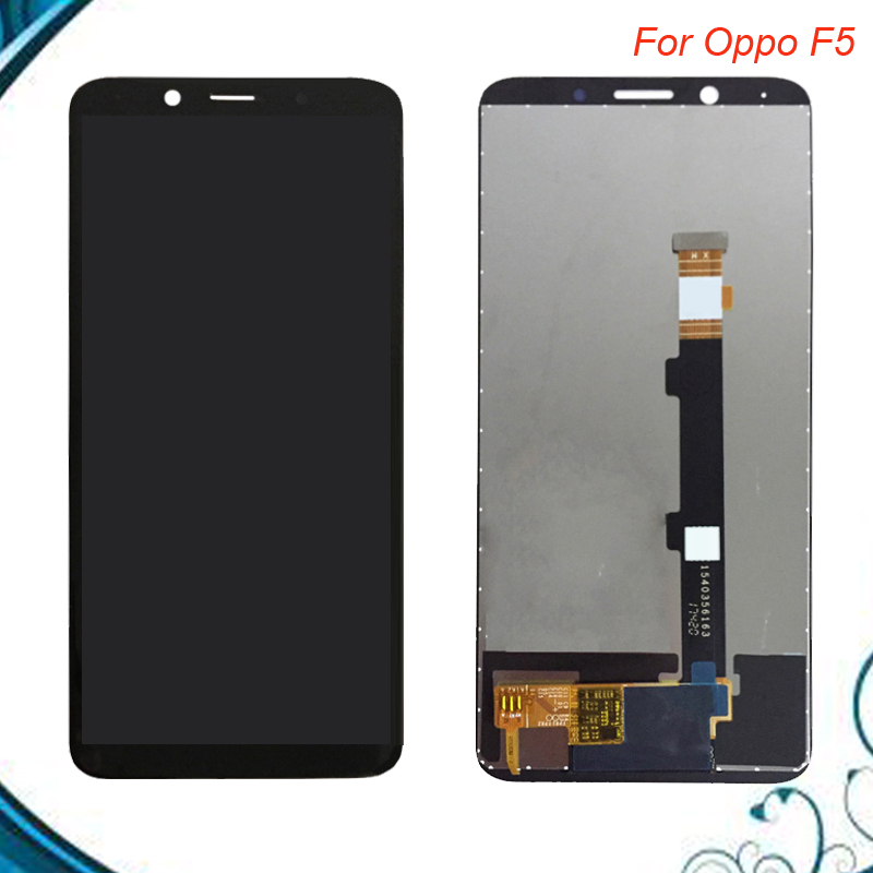 High Quality 6 inch For <font><b>Oppo</b></font> <font><b>F5</b></font> LCD <font><b>Display</b></font>+Touch Screen Digitizer Assembly Replacement Black White Color IN Stock image