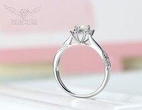 14K White Gold /5.5mm Heart Diamond/Moissanite Diamond Ring For Sale