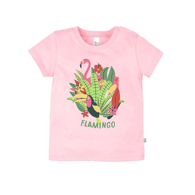 Футболка BOSSA NOVA для девочек 'Фламинго'