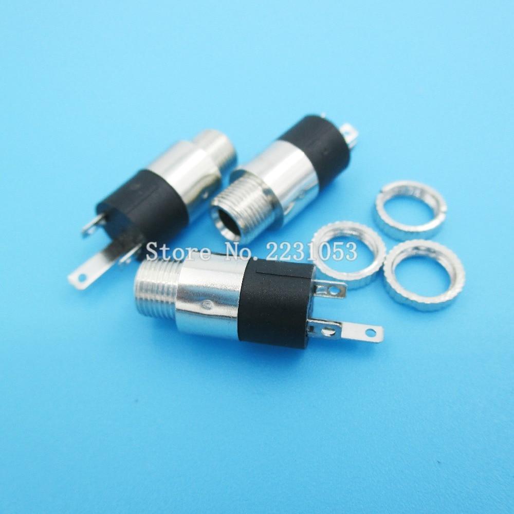 10PCS/LOT PJ392 3.5mm Stereo Female Sockect Jack With Screw 3.5 Audio Headphone Connector PJ-392