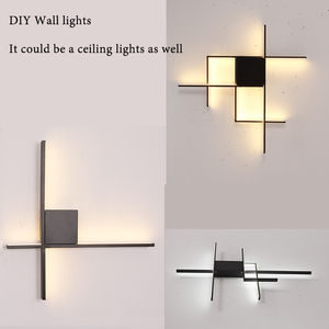 Image 2 - Modern led ceiling chandelier for living room bedroom dining Study room Aluminum led Lustre DIY Chandelier lamp fixtures