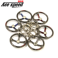Ace speed--Aluminum steering wheel Keychain key ring JDM style for sparco style key chain Nos keyring diameter 40mm