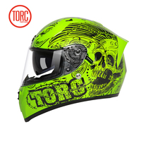 Twin Shield Design Full Face Motorbike Helmet Orginal TORC T18 Motorcycle Helmet With Controllable Internal Sunglasses