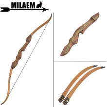 цена на 1Set 60inch 20-55lbs Archery Recurve Bow American Hunting Bow Takedown Wooden 21inch Handle Riser Outdoor Shooting Accessories