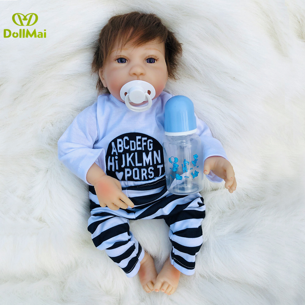 Reborn baby doll 19 45cm realistic  bb silicone reborn boy baby dolls toys for children gift bebes reborn menino bonecasReborn baby doll 19 45cm realistic  bb silicone reborn boy baby dolls toys for children gift bebes reborn menino bonecas