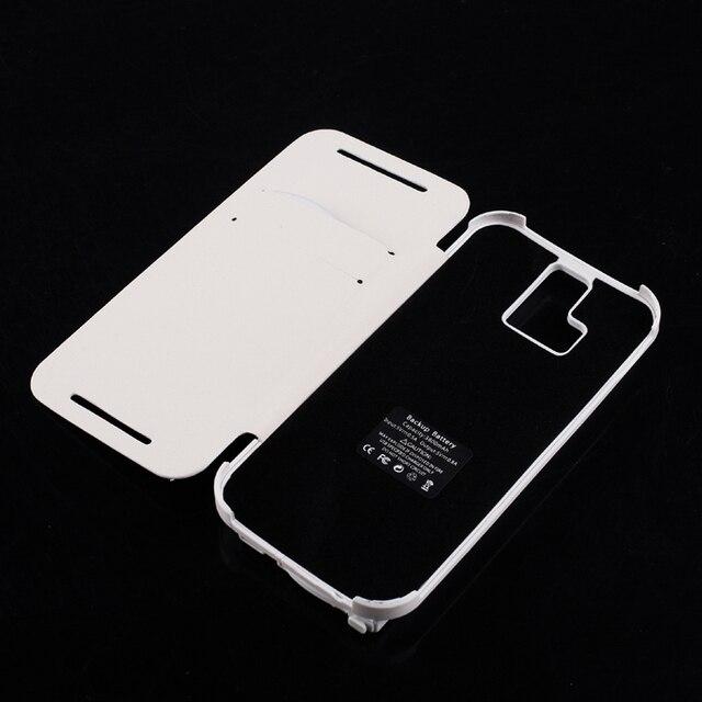 3800 мАч Флип Кожаный Батареи Зарядное Устройство Дело Капа для HTC One M8 Внешний Powerbank Чехол С Подставкой Черный и Белый