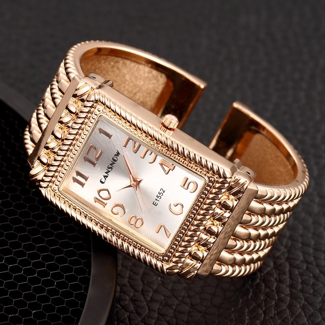 New Fashion Rhinestone Watches Women Luxury Brand Stainless Steel Bracelet Watch