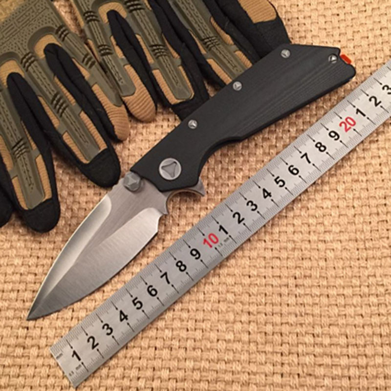 New tactical folding knife D2 blade G10 handle DOC pocket camping hunting survival gift utility knives EDC hand tools faca chachaka cool chain tactical outdoor folding knife survival high hardness pocket knives hunting camping faca kitchen supplies