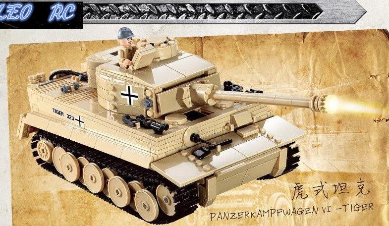 1PCS DIY ABS ROHS material Germany Tiger font b tank b font 995pcs building blocks DIY
