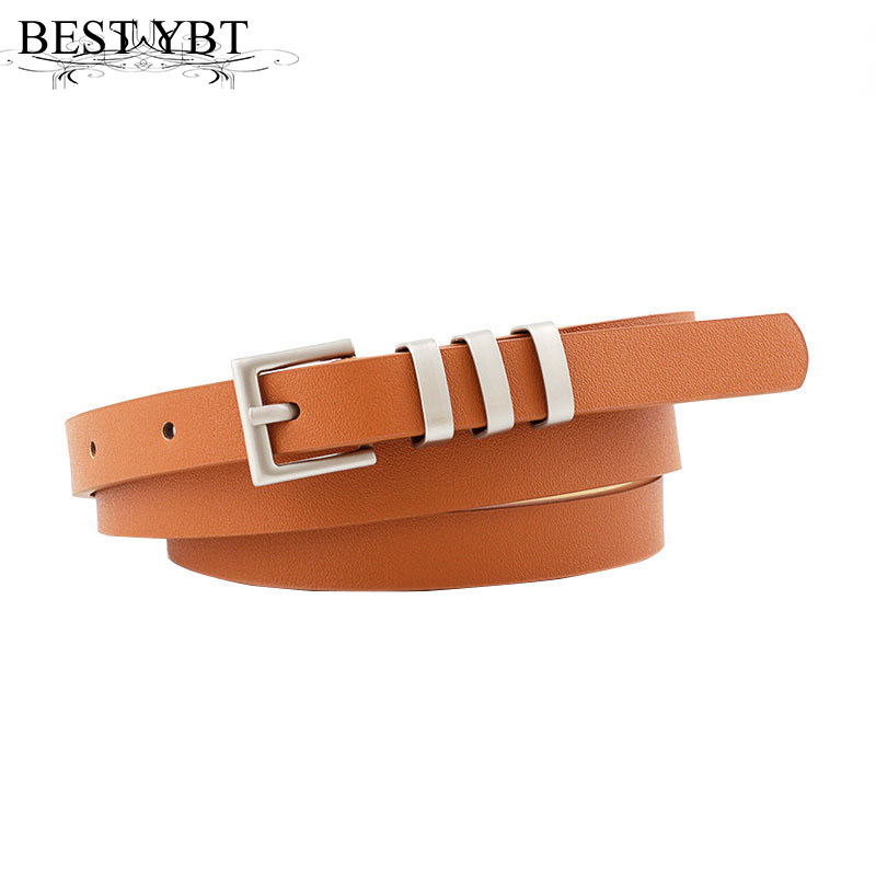 Best YBT Women Belt Imitation Leather Pin Buckle Belt Fashionable PU Ladies Student Jeans Decoration High Quality Women Belt