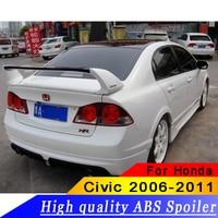 For Honda Civic Spoiler FD2 2006 2011 Spoiler High Quality ABS Material Car Rear Wing Primer Color Rear Spoiler For Honda Civic