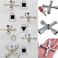 5 In 1 Cross Switch Key Wrench With Accessories Universal Square Triangle Train Electrical Cupboard Box Elevator Cabinet Alloy