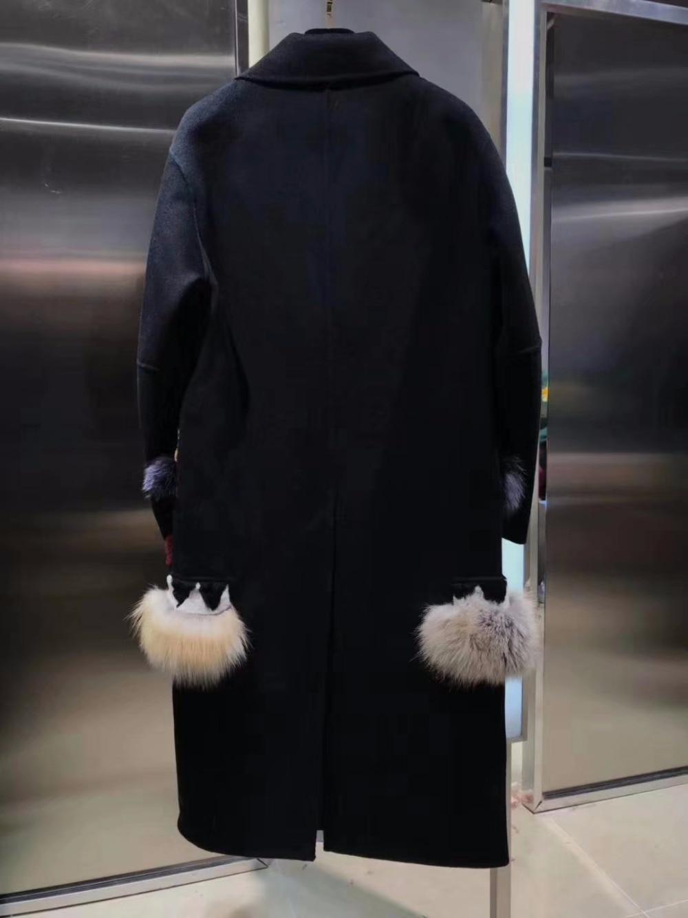 Épissage Garder Au De Femme Chaud Vadim Mode Manteau Laine Femmes High Ourlet Street Casaco D'hiver Femelle q1AWwaBI